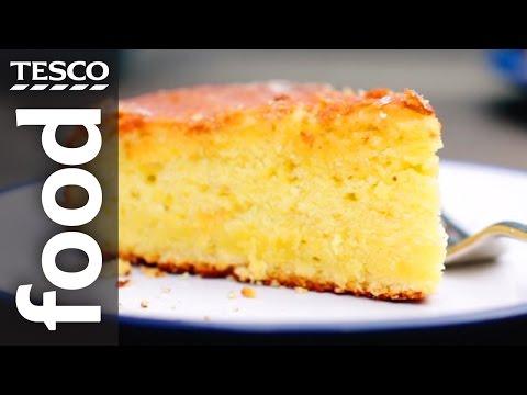 finest* Yogurt and Lemon Drizzle Cake Recipe   Tesco Food