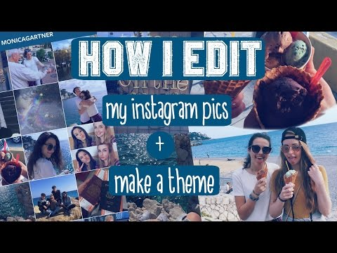 HOW I EDIT MY INSTAGRAM PICS & HOW TO MAKE A BLUE THEME