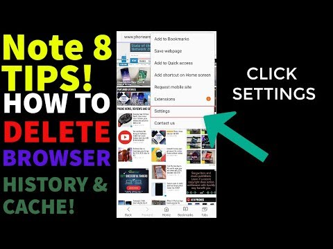 Galaxy Note 8 Tips and Tricks  - How To Delete Browser History!