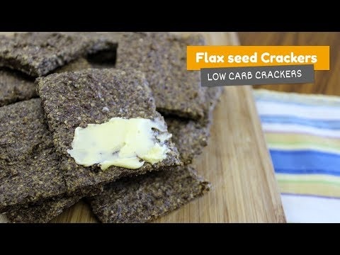 FLAXSEED CRACKERS • Low Carb Crackers #2