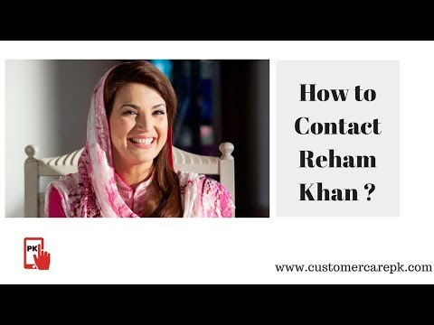 Reham Khan Contact Details, Residence Address, Phone Number, Email ID
