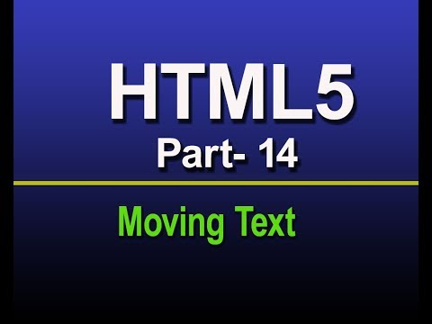 How to make moving text with html?-part:14