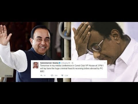 Dr Subramanian Swamy Press Conference Exposing Foreign Accounts of Karti Chidambaram