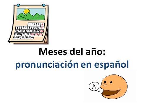 Learn Spanish: Months - Aprende Español: Meses