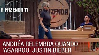 Andréa Nóbrega relembra quando 'agarrou' Justin Bieber | A Fazenda