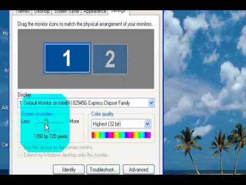 HOW TO CHANGE THE SCREEN RESOLUTION IN WINDOWS XP