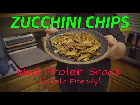 How To Make Zucchini Chips Tasty - A Baked Zucchini Chips Recipe Keto and Ideal Protein Friendly