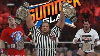 WWE 2K15 Gameplay en PS4 - Referí Especial Triple H - Final inesperado!