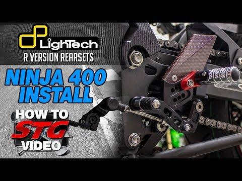 LighTech Kawasaki Ninja 400 R Version Rearsets Install | Sportbike Track Gear
