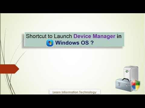 Create Device Manager Shortcut on your Desktop in Windows OS
