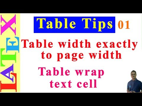 Table Formatting in Latex-01 (LaTeX: Tips/Solution-25)