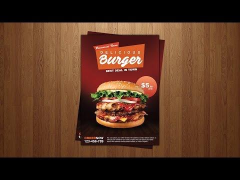 Burger Restaurant Flyer/Poster Design Tutorial in Adobe Photoshop #4