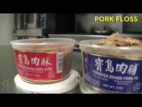 Cooking with pork floss
