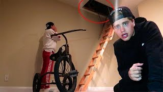 WE FOUND A SECRET ATTIC IN OUR NEW HOUSE *creepy stuff inside*