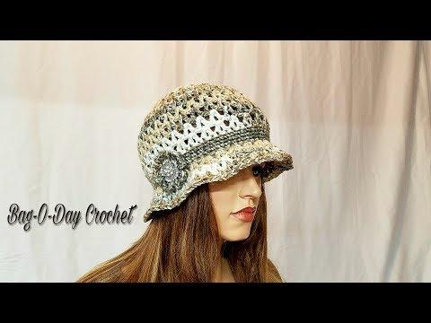 How To Crochet -  HAT | The Irish Rose Cloche Flapper Style | BAGODAY CROCHET Tutorial #471