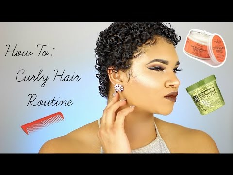 How To: Style TWA (Curly Hair Routine)