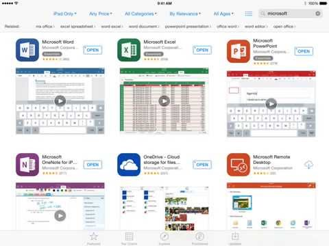 How to Install Office Apps onto iPad