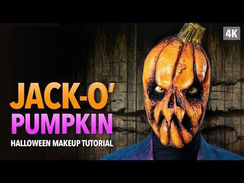 Jack-o' pumpkin Halloween Makeup Tutorial