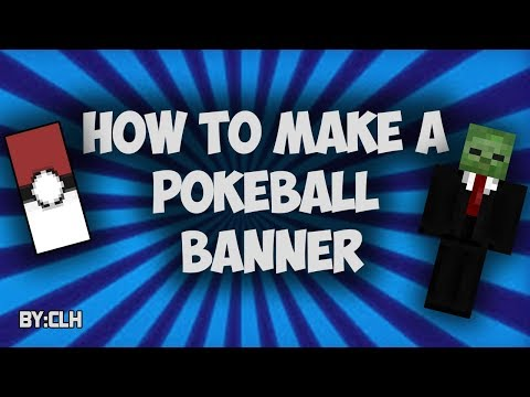 MINECRAFT: HOW TO MAKE A POKEBALL BANNER!!!!!!!!(very easy)