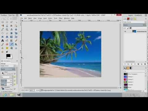 How to Save PNG in GIMP