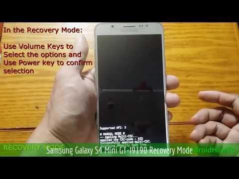 Samsung Galaxy S4 Mini GT-I9190 Recovery Mode