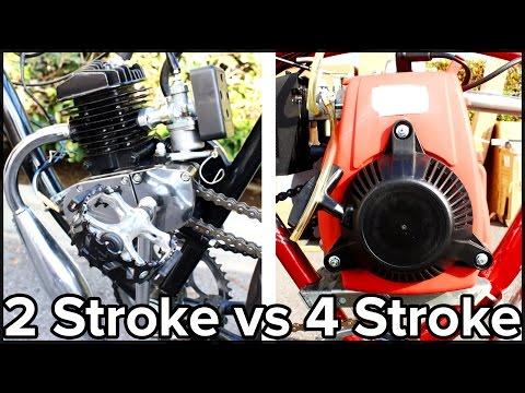 2-Stroke vs 4-Stroke Motorized Bicycle (GoPro)