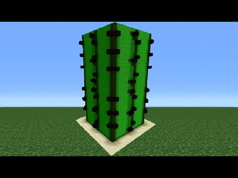 Minecraft Tutorial: How To Make A Cactus