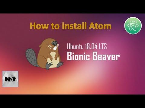How to install Atom on Ubuntu 18.04