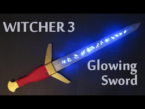 Make a Witcher 3 sword with Glowing Runes