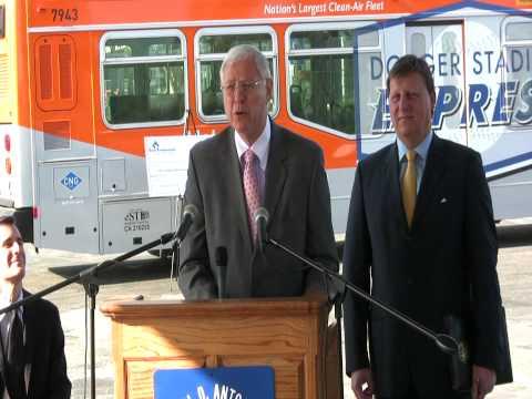 Think Blue, Act Green -- New Dodger Stadium Express Bus Service