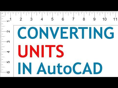 CONVERTING UNITS IN AUTOCAD | DWGUNITS COMMAND