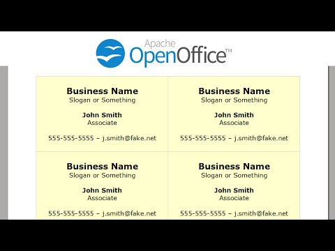 Printing Business Cards in OpenOffice Writer