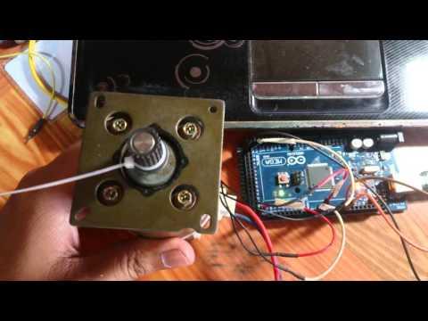 PID posion DC servo motor control with arduinomega 2560