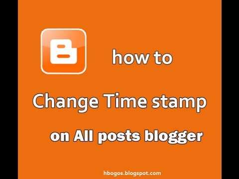how to  Change Time stamp Format in Blogger Post