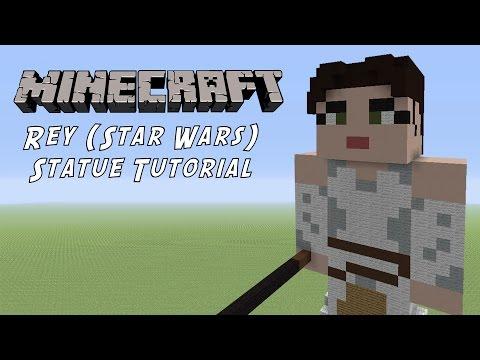 Minecraft Statue Tutorial: Rey (Star Wars The Force Awakens)