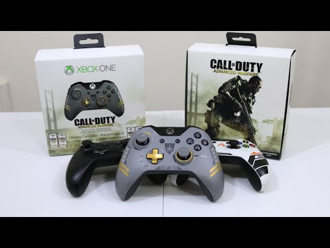 Call of Duty Advanced Warfare Wireless Controller Unboxing & First Look! (Xbox One Limited Edition)