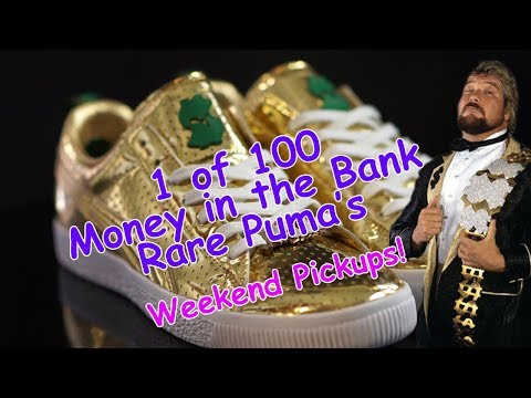 Super Rare Money in the Bank Puma's - WWE Ted Dibiasi
