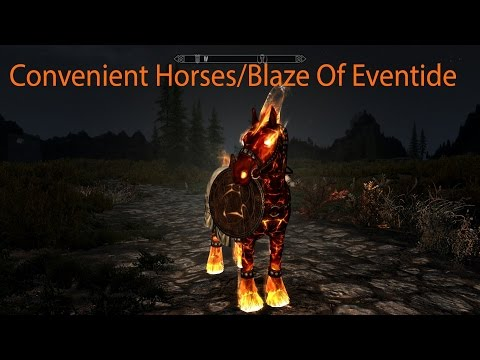 Convenient Horses V2 and Blaze Of Eventide Skyrim Special Edition Mod Showcase By Alek