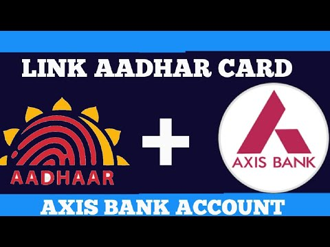 How to link your Aadhar number with Axis bank account with mobile banking app online  in hindi ||