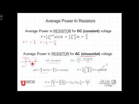 L10 1 2Average Power in Resistors