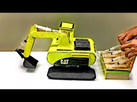 How To Make Hydraulic CAT Excavator From Cardboard DIY At Home