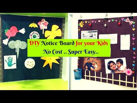 DIY DISPLAY board using Cardboard/Pin up board/Best Out of Waste/New idea on youtube