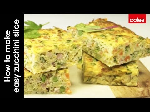 How to make easy zucchini slice
