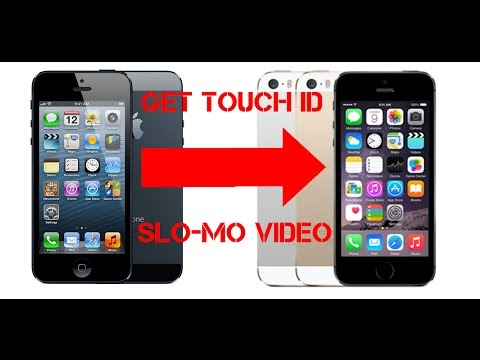 Turn IPhone 5 into 5s or how to make Touch ID Slomo 120 fps video and iPhone 5 look like iPhone 5s