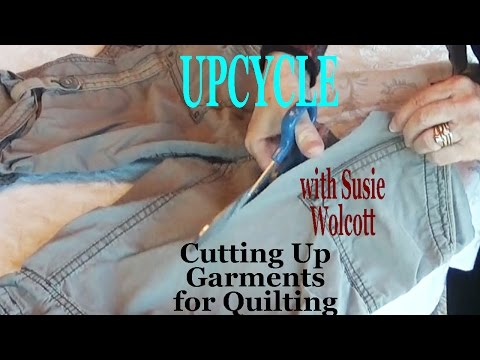 Upcycle: How to Cut Up Old Clothes to add fun details to quilting | ZSA Presents