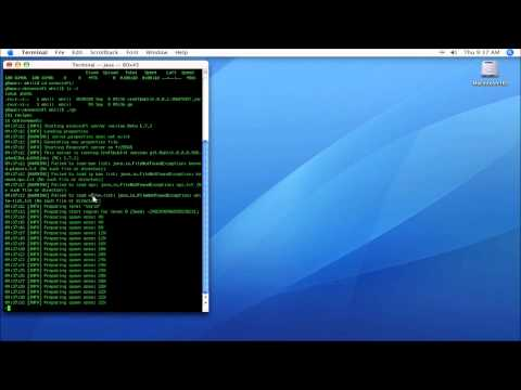 Minecraft - How to install Bukkit on a Mac OS X or Linux machine