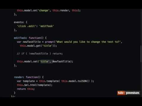 Backbone JS Hands On Tasks Custom Events - 14 tutsplus