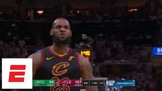 [Game 6] LeBron James hits back-to-back dagger 3s with Jayson Tatum in his face both times | ESPN