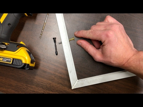 How To Replace A Window Screen Plunger Latch In Under 5 Minutes