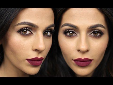 Dark Matte Lipstick Tutorial  | Get Ready With Me Makeup Tutorials | Teni Panosian